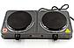 Электроплита DOMOTEC MS-5822 дисковая на 2 конфорки   электрическая плита настольная, фото 2