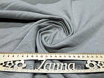 Мягкая трикотажная ткань спорт-шерсть светло-серого цвета