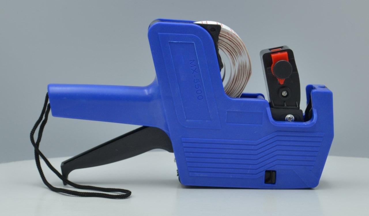 Этикет пистолет принтер ценников MHZ MX-5500 Blue