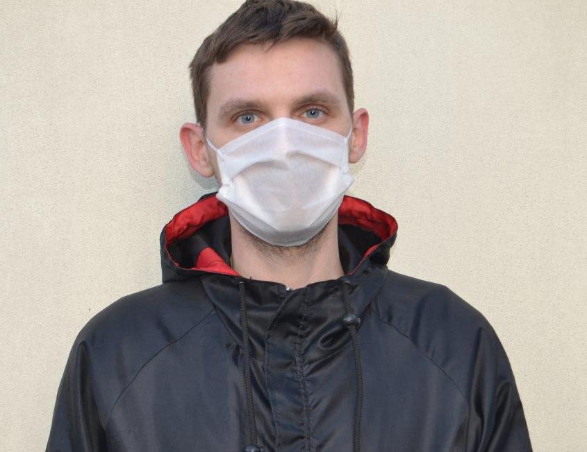 Маска для лица тканевая MHZ трехслойная, белая