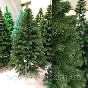 Ялинка Елітна лита Буковельська 1.8 м. зелена, реалістична новорічна, натуральна з підставкою