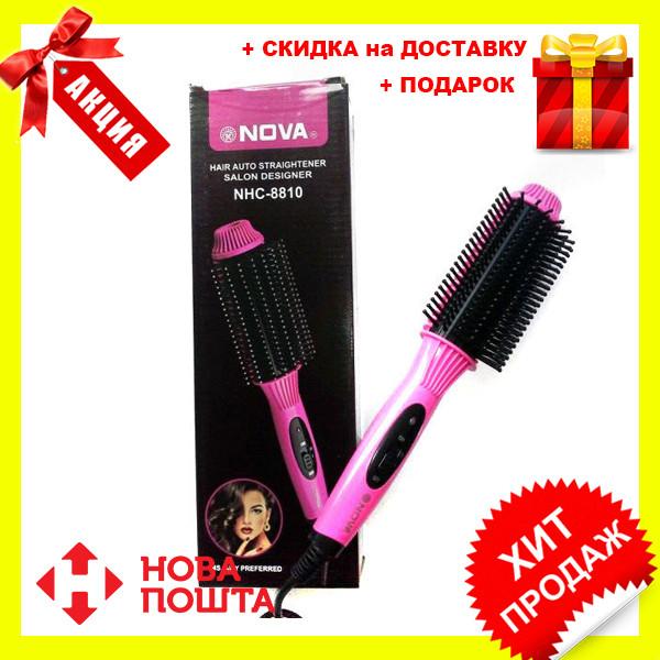 Электрическая расческа выпрямитель для волос NOVA NHC 8810   выравниватель   утюжок щетка