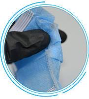 Маска для лица тканевая MHZ трехслойная (спанбонд-мельтблаун-спанбонд), голубая, фото 2