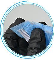 Маска для лица тканевая MHZ трехслойная (спанбонд-мельтблаун-спанбонд), голубая, фото 3