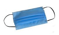 Маска для лица тканевая MHZ трехслойная (спанбонд-мельтблаун-спанбонд), голубая, фото 5