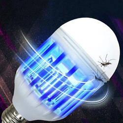 Світлодіодна протимоскітна лампа 2 в 1 Zapp Light   лампочка знищувач комарів