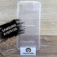 Прозрачный силиконовый чехол для Samsung A10, фото 1