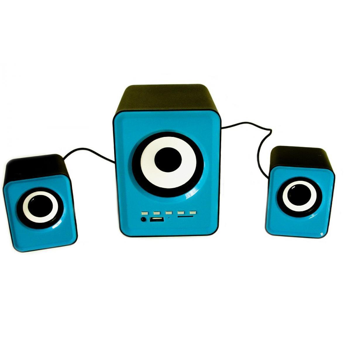 Колонки для компьютера FnT SW-201U, синие