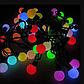 Гирлянда матовый шарик 40LED 5м (флеш) 18мм, Новогодняя бахрама, Светодиодная гирлянда, Уличная гирлянда, фото 2