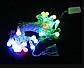 Гирлянда прозрачный шарик 28LED 5м (флеш) 10мм, Новогодняя бахрама, Светодиодная гирлянда, Уличная гирлянда, фото 4