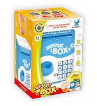 Сейф игрушечний синий, свет, звук, работает от батарей, фото 2