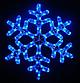 Лента LED снежинка 4м (Микс) 7193, Новогодняя бахрама, Светодиодная гирлянда, Уличная гирлянда, фото 3