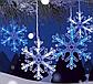 Лента LED снежинка 4м (Микс) 7193, Новогодняя бахрама, Светодиодная гирлянда, Уличная гирлянда, фото 5