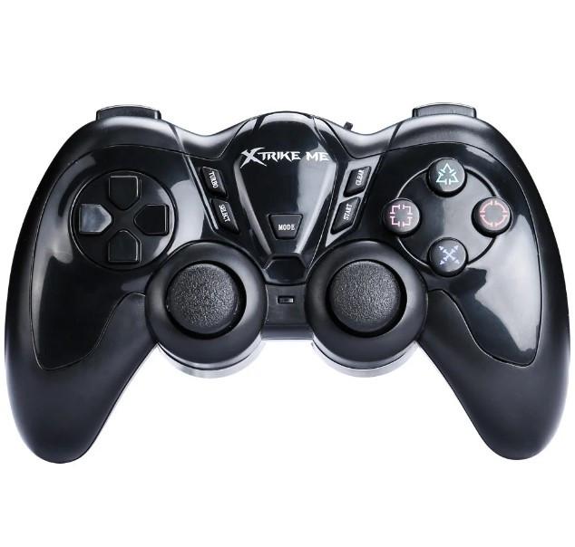 Беспроводной геймпад, джойстик, игровой контроллер XTRIKE ME GP-42, черный