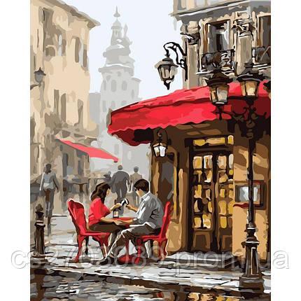 """Картина по номерам """"Побачення в кафе"""" 40*50, фото 2"""