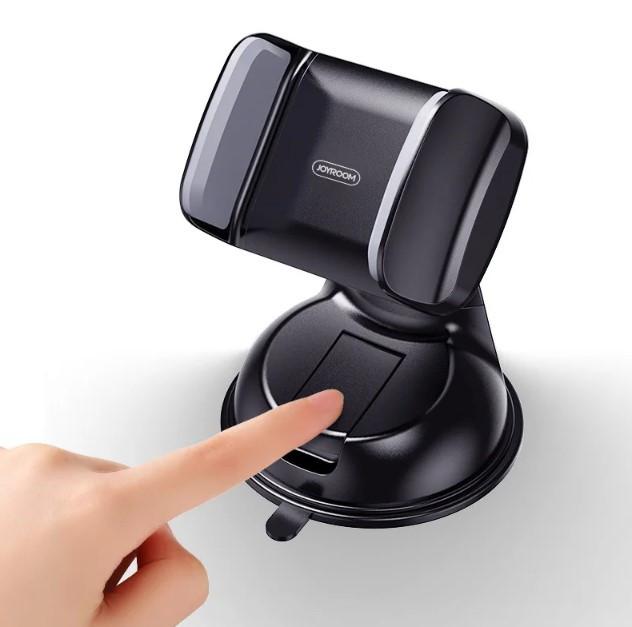 Автодержатель, крепление для телефона в машину JOYROOM JR-OK1, черно-серый