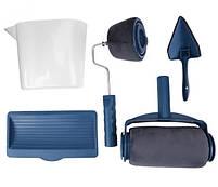 Набор Paint Roller: валики для покраски углов и поверхностей, поднос, лоток и сборная ручка, синий, фото 2