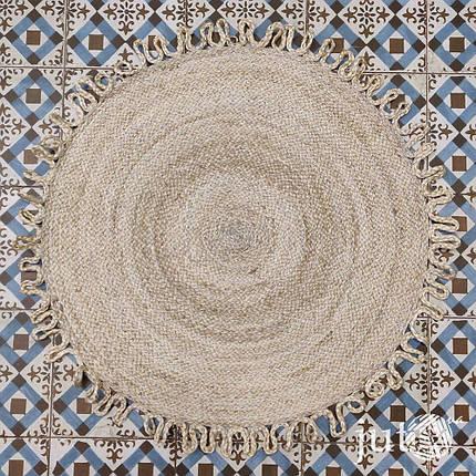 Коврик джутовый (круглый) - 80 см, фото 2