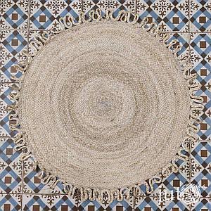 Коврик джутовый (круглый) - 80 см