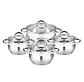 Набор кастрюль Edenberg EB-3718 из 4 предметов яблочной формы из нержавеющей стали, фото 3