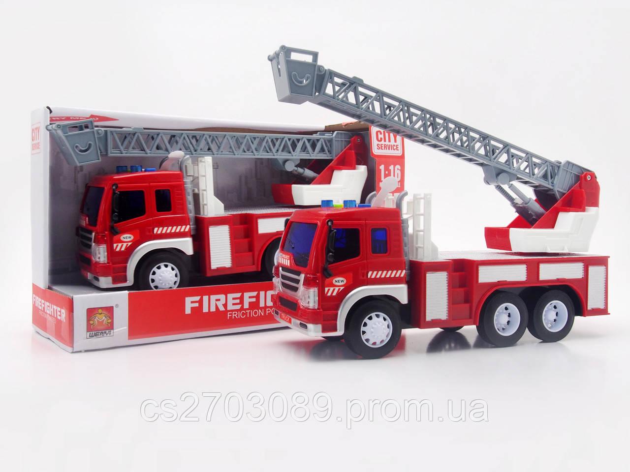 Фрикционная машинка пожарная со светом и звуком