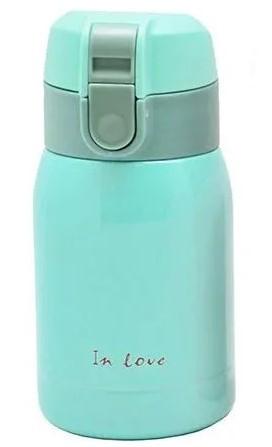 Термос железный питьевой In Love SLD-250BL 200мл, голубой