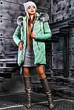 Куртка брендовая женская зимняя стеганая (оливковый, р.XL), фото 5