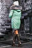 Куртка брендовая женская зимняя стеганая (оливковый, р.XL), фото 8