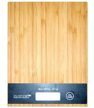 Весы кухонные электронные MHZ MATARIX MX-406 на 5 кг, сенсорное управление, дерево + пластик