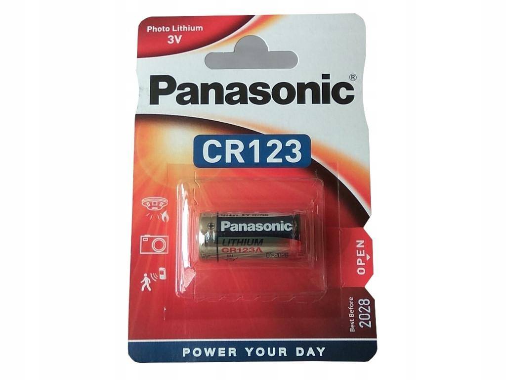 Литиевая батарейка Panasonic CR123, 3V, 1 шт