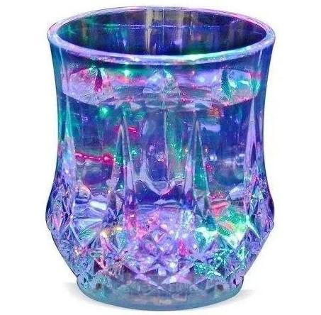 Стакан с подсветкой MHZ FLASH CUP 7104, пластиковый, прозрачный