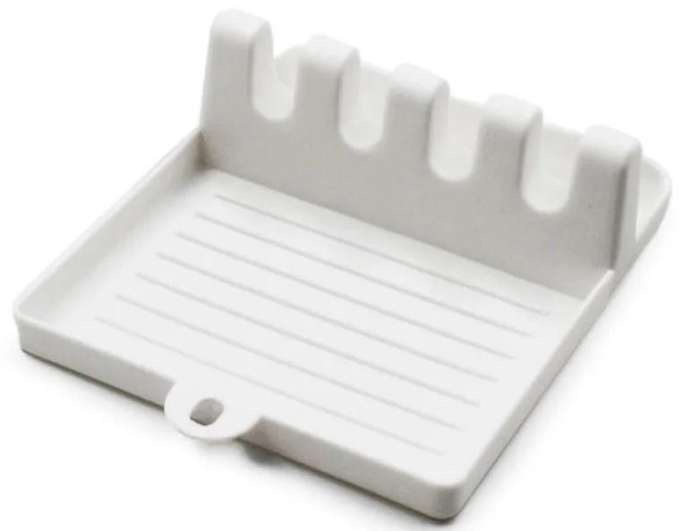 Подставка-держатель для кухонной утвари MHZ 7241 пластиковая, белая