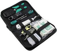 Набор сетевика для обжимки, тестирования и монтажа витой пары в чехле MHZ 7186