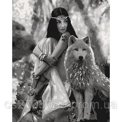 """Набор для росписи """"Волчица """" 40*50см, фото 2"""