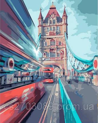 """Набор с алмазной мозаикой """"Дорогами Лондона"""" 40*50см, фото 2"""