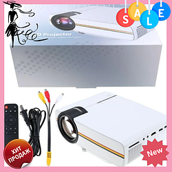 Портативний мультимедійний проектор YG400 BK 30+WT 70PCS з динаміком