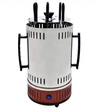 Электрошашлычница вертикальная Domotec BBQ MS-7783, нержавеющая сталь, красная