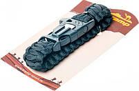 Браслет выживальщика з паракорда Tramp TRA-232 зі свистком і кресалом, чорний, фото 5