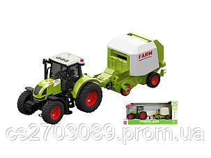 Фрикционный трактор с сеялкой, свет, звук, фото 2