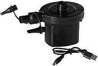 Насос электрический аккумуляторный для лодок, матрасов, надувной мебели, бассейнов USB Bestway 62130, черный