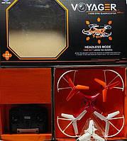 Радиоуправляемый квадрокоптер Voyager HX739 2.4Ghz с пультом ДУ и запасными лопастями, красный, фото 3