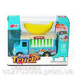 Металлическая машинка с продажи еды 1:36 со светом и звуком, фото 2