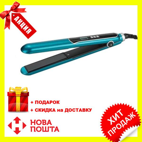 Прасочка для волосся Maestro MR-254 бірюзовий | вирівнювач Маестро, випрямляч Маестро | щипці для випрямлення