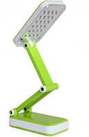 Настольная лампа светодиодная Led Topwell 1019 с аккумулятором, 2 режима работы, складная, зеленая с белым