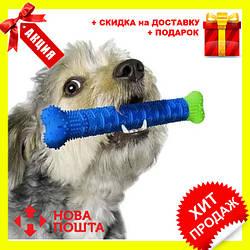 Зубна щітка для собак Сhewbrush   Щітка для чищення зубів собак Сhewbrush   Зубна щітка іграшка для собак