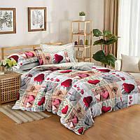"""Семейное постельное бельё с простыней на резинке (13833) хлопок """"Ранфорс"""", фото 1"""