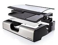 Контактный гриль электрический Silver Crest STGG 1800 A1, антипригарное покрытие, черный с серебристым, фото 2