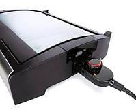 Контактный гриль электрический Silver Crest STGG 1800 A1, антипригарное покрытие, черный с серебристым, фото 3