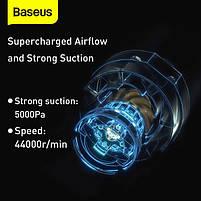 Автомобильный пылесос аккумуляторный BASEUS A2, 2 насадки, черный, фото 7
