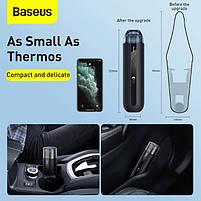 Автомобильный пылесос аккумуляторный BASEUS A2, 2 насадки, черный, фото 9